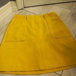 Yellow Loft A-line Mini Skirt